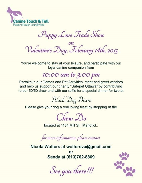 Puppy Love Trade Show event poster