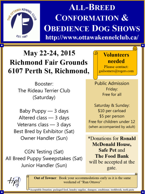 All-Breed Conformation & Obedience Dog Shows by the Ottawa Kennel Club